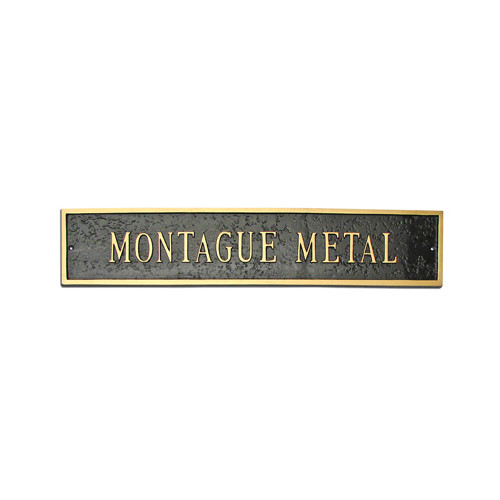 Montague Metal Products Inc. Estate Classic Arch Extension Address Plaque