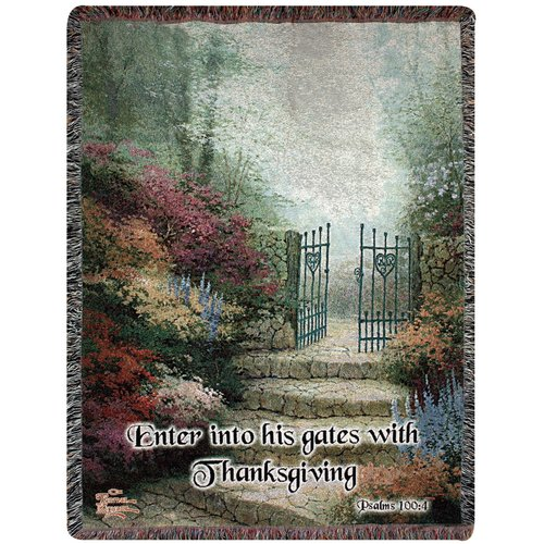 Manual Woodworkers & Weavers Garden of Prom Verse Tapestry Cotton Throw