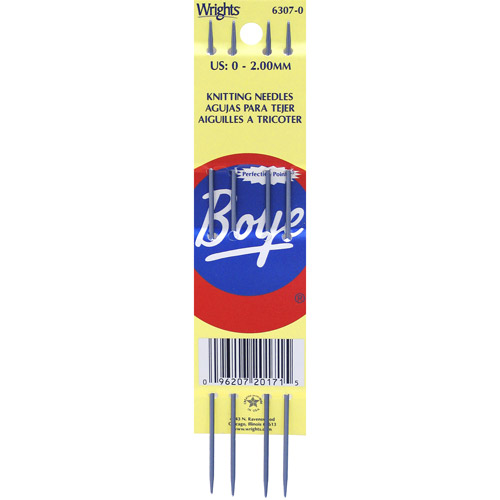 Boye Double Point Aluminum Knitting Needles