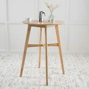 Noble House Finley Mid-Century Modern Wood Bar Table, Natural Oak