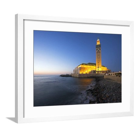 Hassan Ii Mosque in Casablanca, the Third Largest in World after Those at Mecca and Medina, Morocco Framed Print Wall Art By Julian Love - Julian Casablancas Halloween