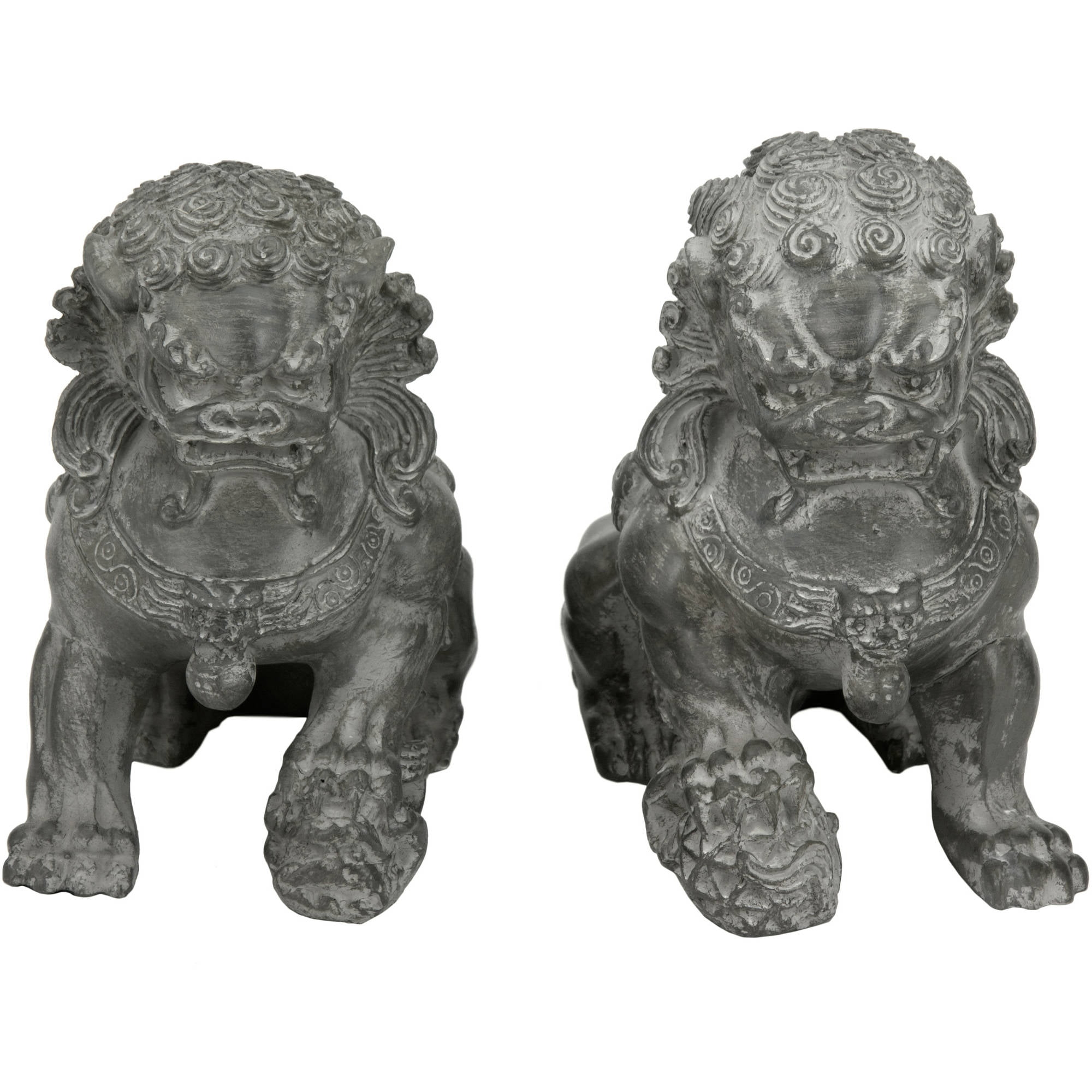 "6"" Sitting Foo Dog Statues (Set of Two by Oriental Furniture"