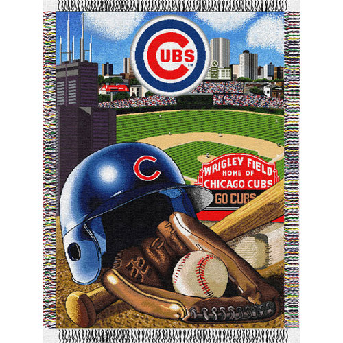 MLB - Chicago Cubs 48x60 Home Field Advantage Tapestry Throw