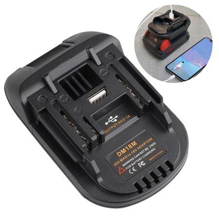 For Battery Adapter DM18M Compatible with Milwakee, Dewalt 20V for Makita 18V Lithium BL1830 BL1840 BL1850 14.4V- 18V conversion