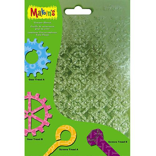 "Makin's Clay Texture Sheets, 7"" x 5-1/2"", 4pk"