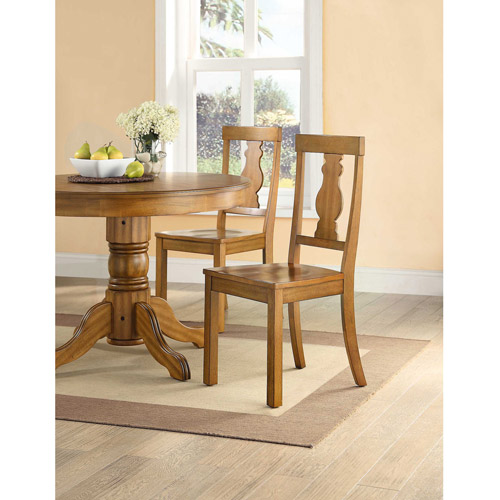 Better Homes and Gardens Cambridge Place Dining Chairs, Set of 2, Honey