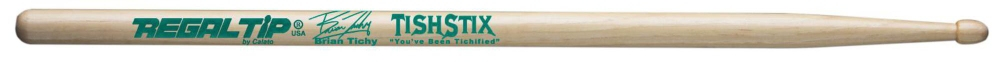 Regal Tip Performer Series Brian Tichy TishStix Drumsticks Wood Tip by Regal Tip