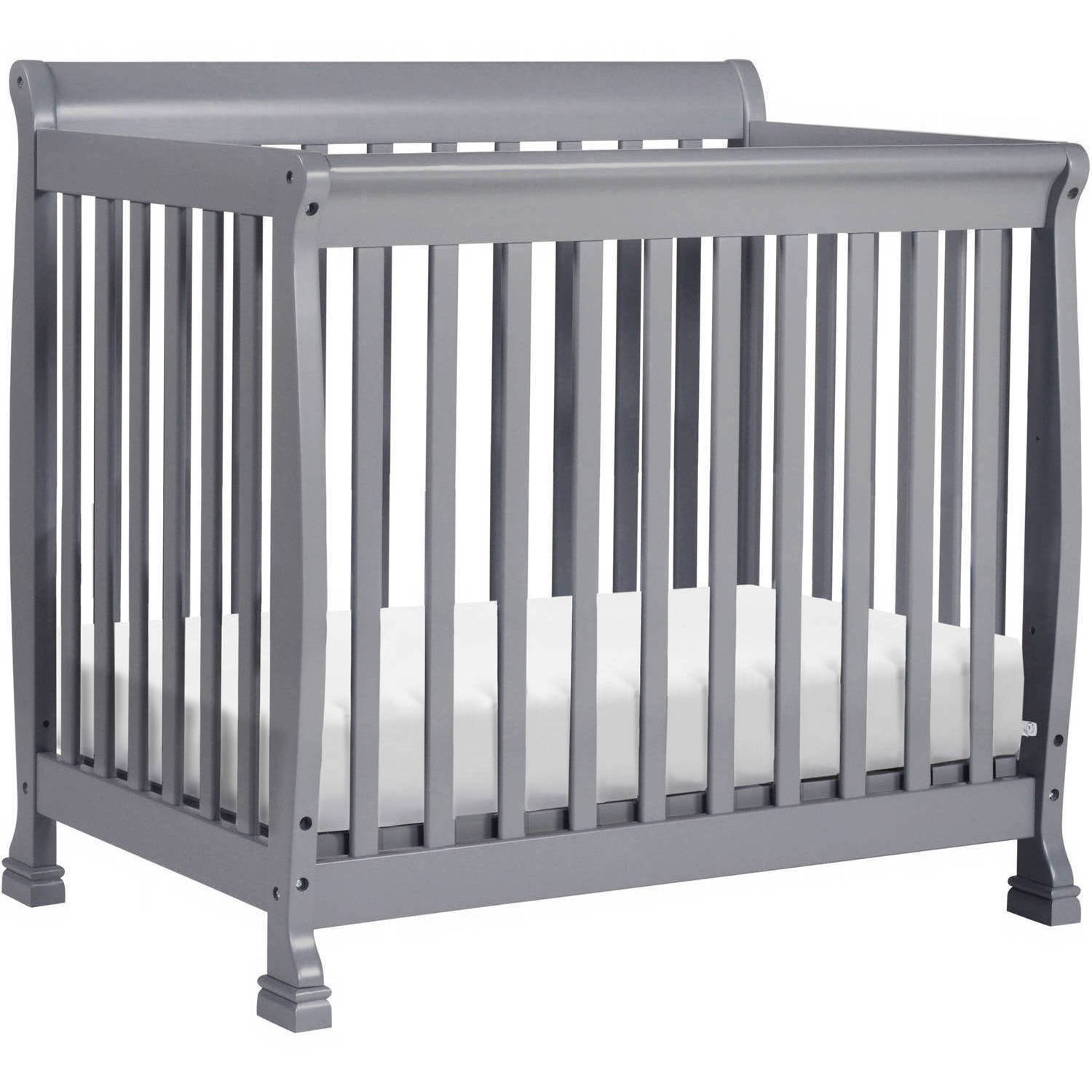 DaVinci Kalani 2-in-1 Convertible Mini Crib Gray