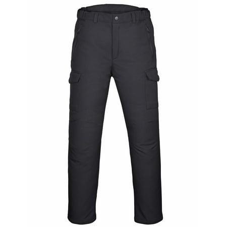 WICKED STOCK Men's Water-Repellent Softshell Fleece Lined Cargo Pants Outdoor Windproof