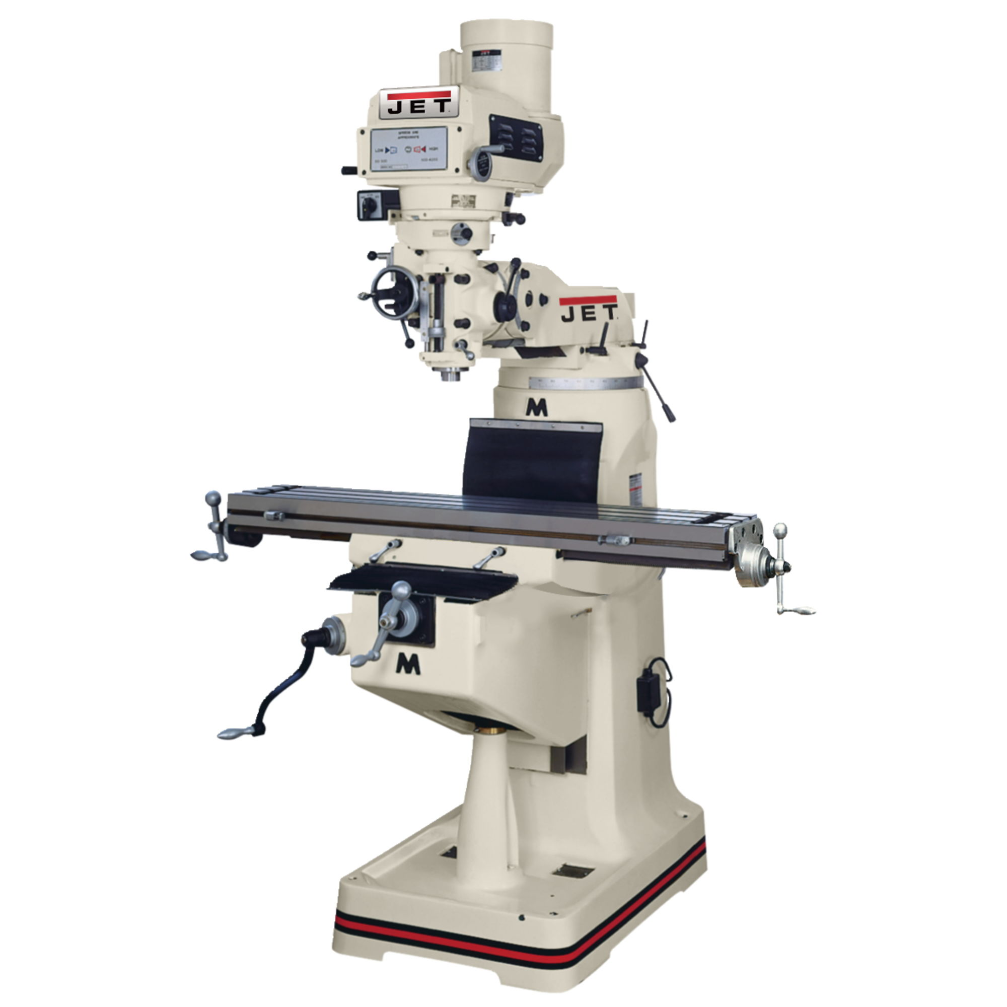 Jet 690052 JTM-1055R, Mill with VUE DRO, X-TPFA and Air Draw Bar