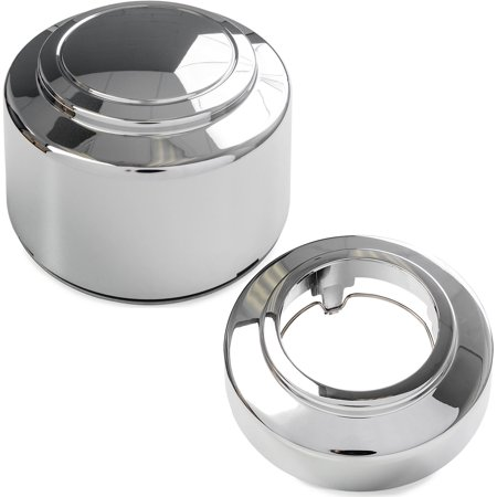 4x Chrome Center Caps Open and Closed Wheel Lug Nut Hub Cap Covers