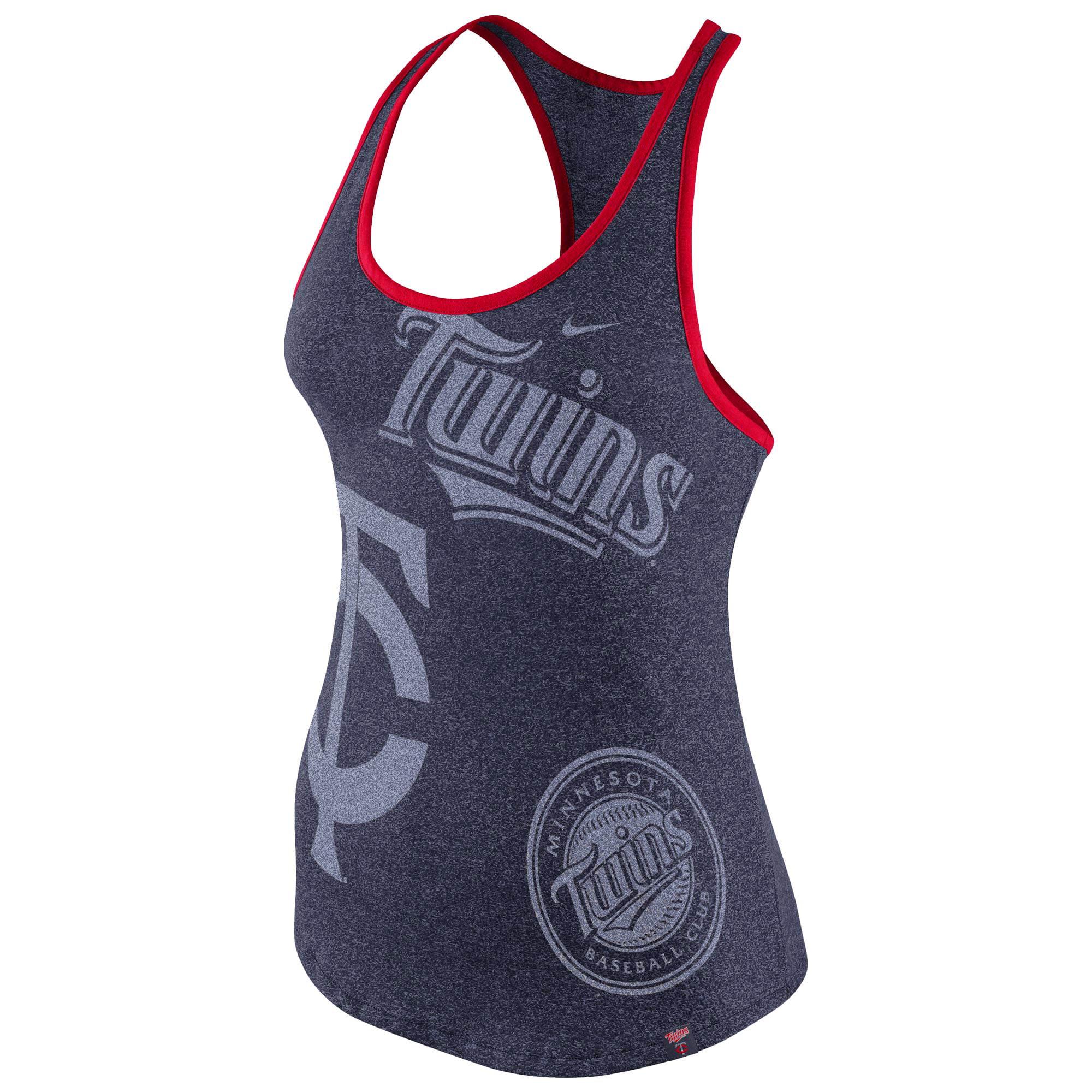 Women's Nike Navy Minnesota Twins Marled 1.6 Tank Top