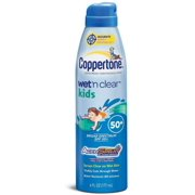 Coppertone Wet 'n Clear Kids Sunscreen Continuous Spray SPF 50, 6 oz (Pack of 6)