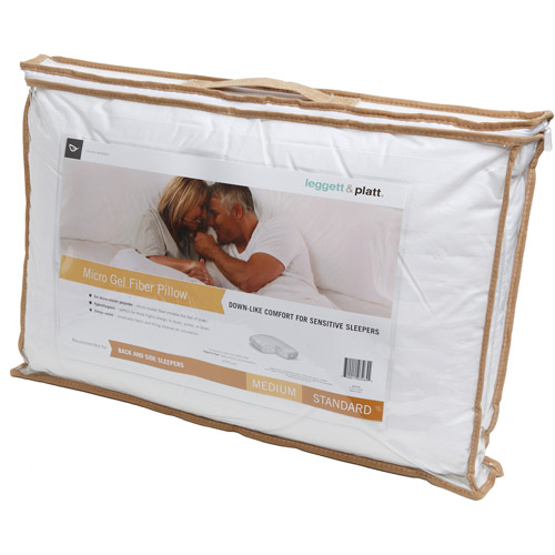 Leggett & Platt Home Textiles Medium Micro Gel Pillow, Multiple Sizes