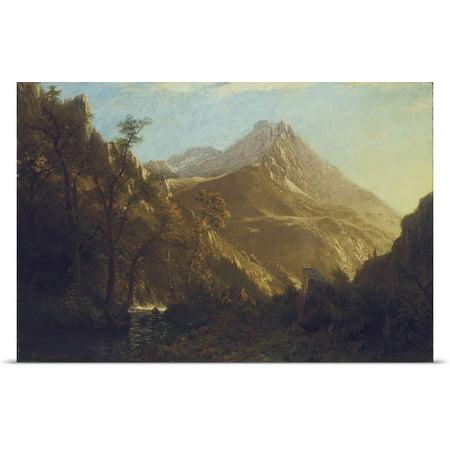Great Big Canvas Albert  1830 1902  Bierstadt Poster Print Entitled Wasatch Mountains