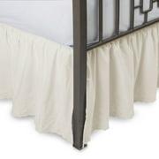 Eyelet Ruffled Bed Skirt With Split Corners