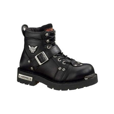 Harley-Davidson Men's Brake Buckle Black 6.00-Inch Motorcycle Boots D91684 ()