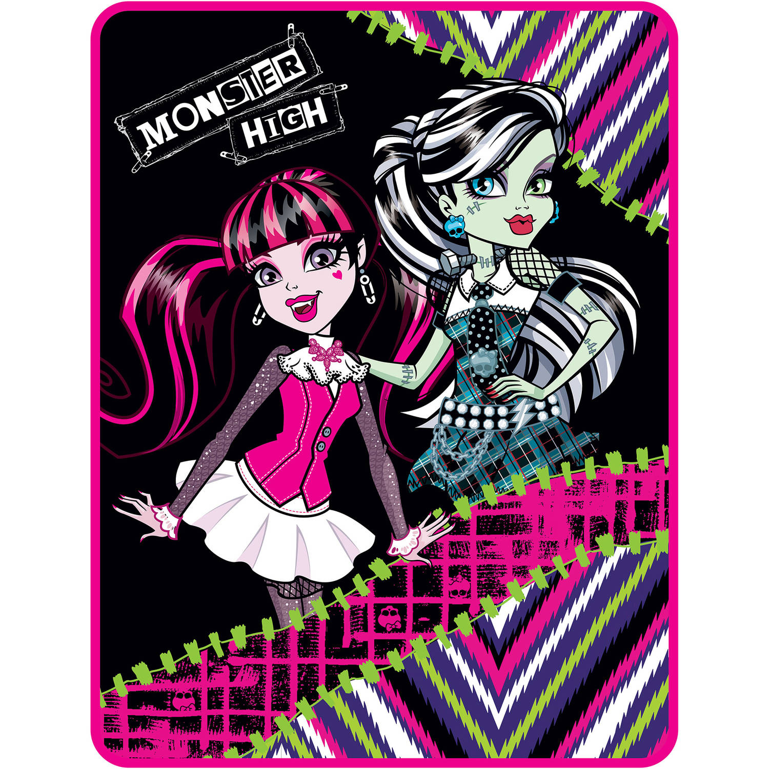 Monster High My Best Ghouls Twin Bedding Throw