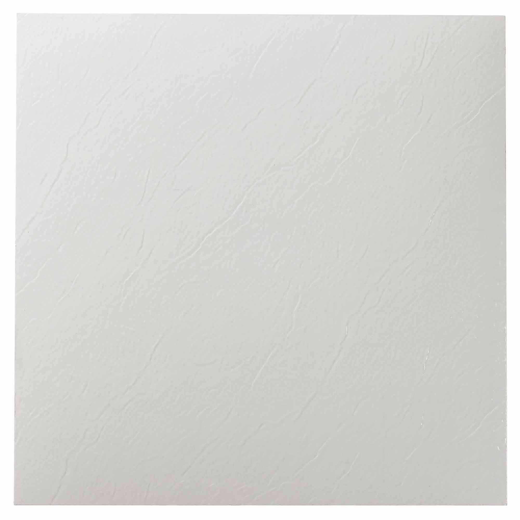 NEXUS White 12x12 Self Adhesive Vinyl Floor Tile - 20 Tiles/20 Sq.Ft.