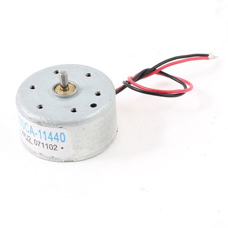 DC 1.5-6V 1860-7570RPM Speed 2mm Shaft Dia Two Wired Solar Power Motor