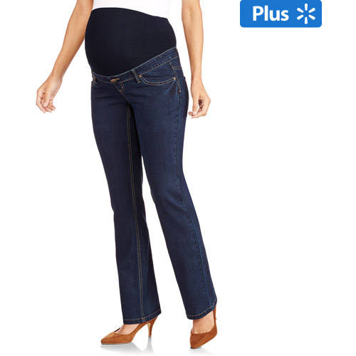 Planet Motherhood Maternity Plus-Size Full-Panel 5-Pocket Bootcut Jeans