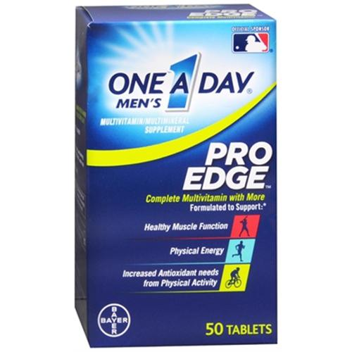 One-A-Day Men's Pro Edge Complete Multivitamin 50 Tablets (Pack of 2)