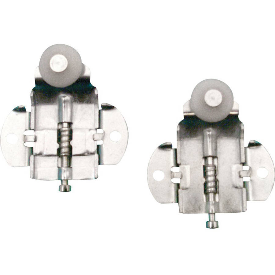 """Slide-Co 16316-F Closet Door Roller with Front 3/8"""" Offset and 3/4"""" Nylon Wheel, 2pk"""