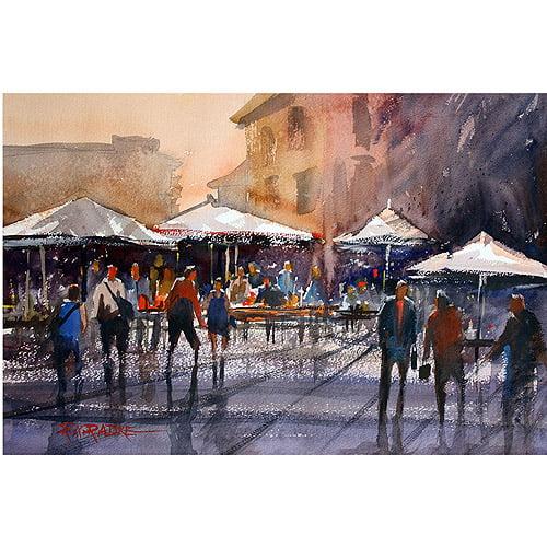 "Trademark Art ""Outdoor Market - Rome"" Canvas Art by Ryan Radke"