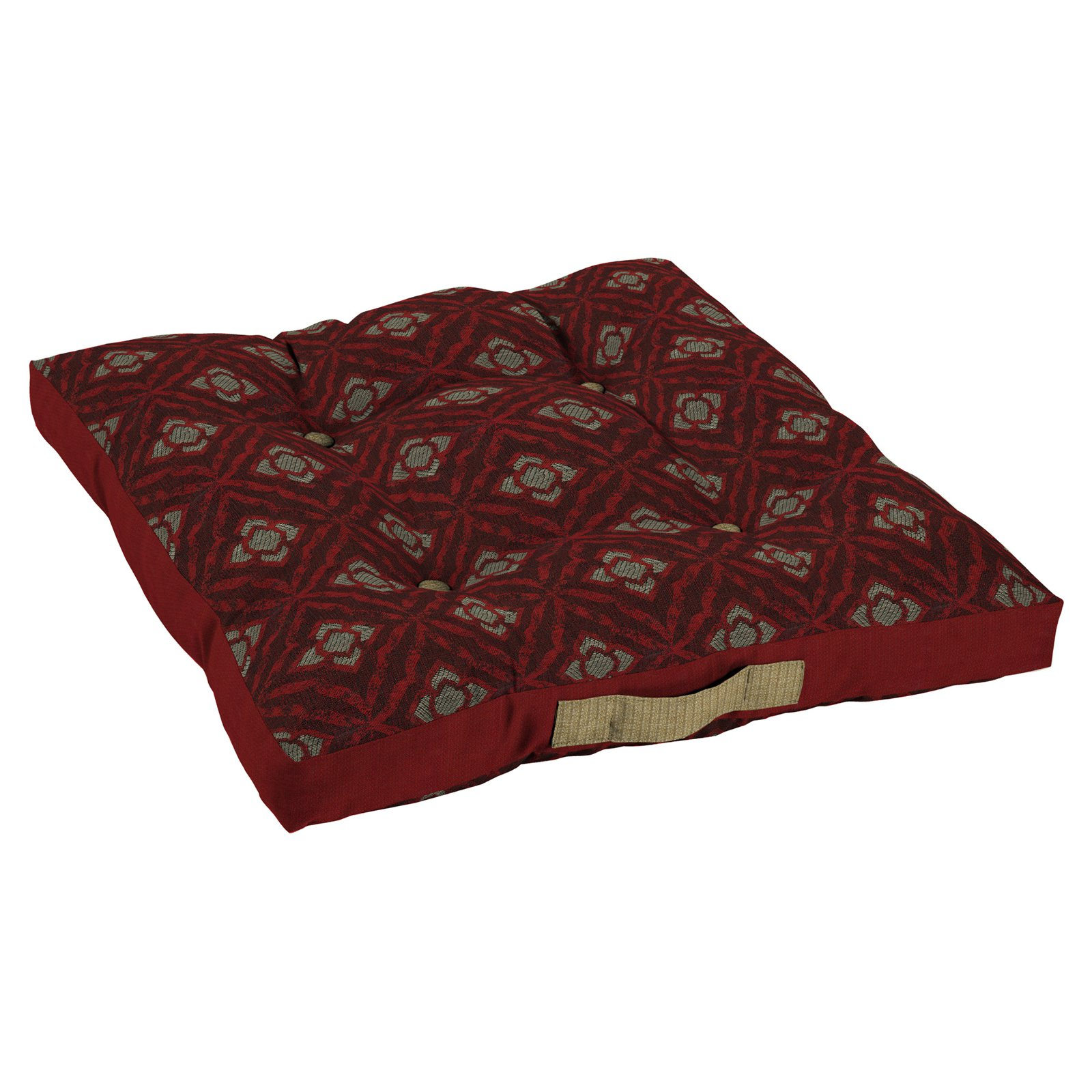 Bombay Outdoors Geo Floral Berry Oversize Floor Pillow