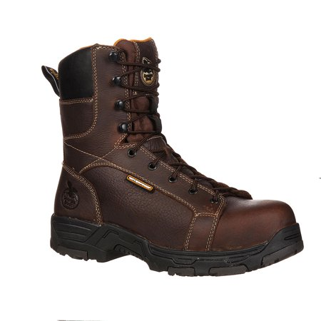 "Georgia Men's 8"" Diamond Trax WP Brown Work Boot 11 M"