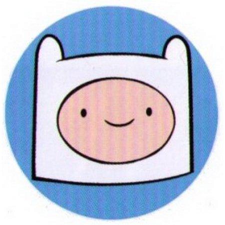 Adventure Time Finn Face Button AB4522