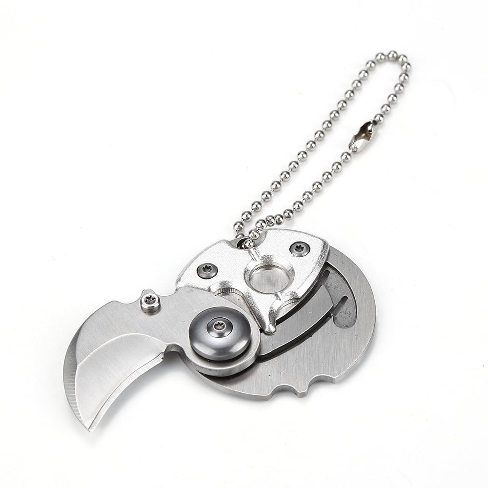 Pocket Survival folding knife Outdoor EDC tool key hooks Creative small Q knife MZ