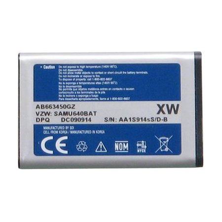Replacement Battery For Samsung Convoy Mobile Phones - AB663450GZ (1300mAh, 3.7V, Li-Ion) ()