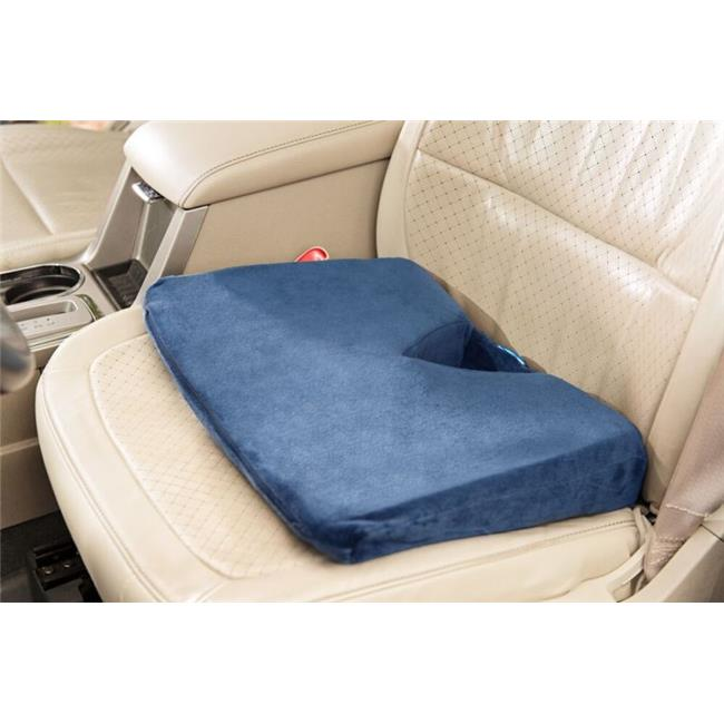 Care Apparel 0228V-0-NAV Coccyx Wedge Velour Cover Standard Foam, Navy