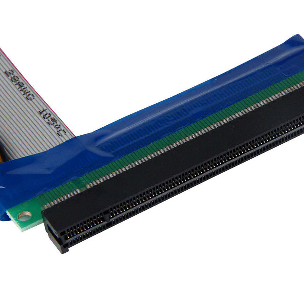 PCI-E 1x To 16x Extender PCI Express Riser Ribbon Cable with Molex Power 34276889502 - image 5 de 7