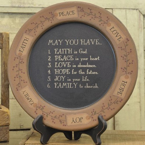 The Hearthside Collection ''May You Have...'' Plate