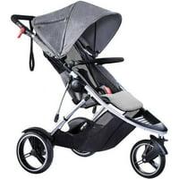 Phil & Teds Dash Inline Stroller, Grey Marl