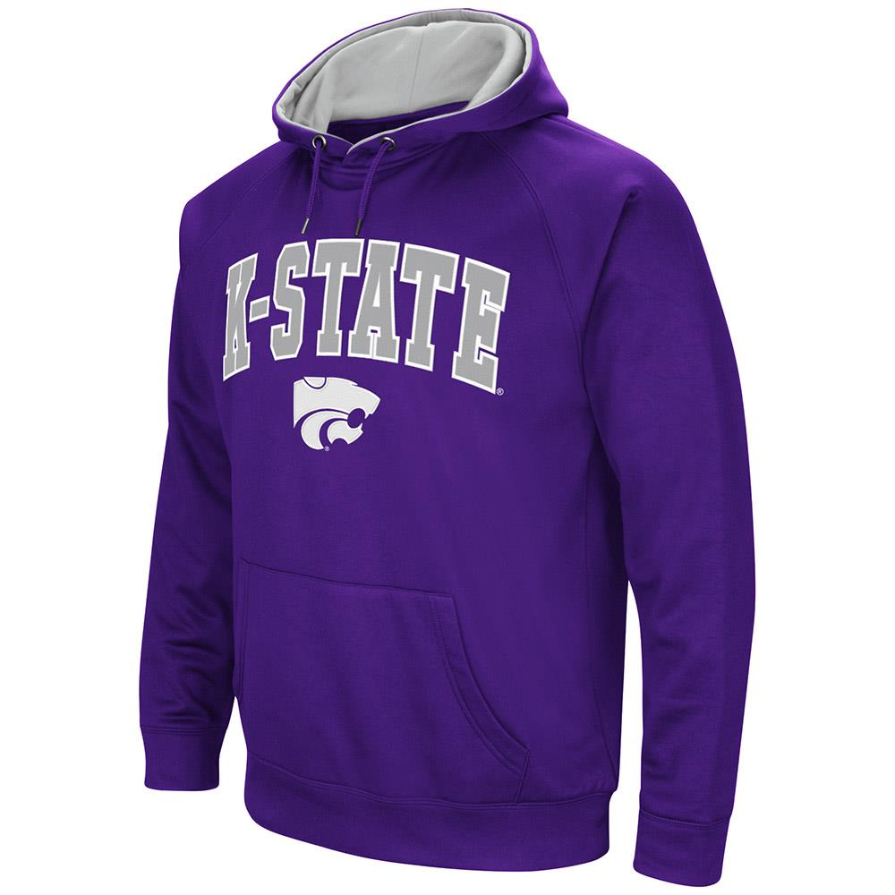 Mens Kansas State Wildcats Fleece Pull-over Hoodie by Colosseum