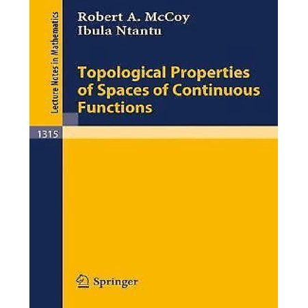 Topological properties of spaces of continuous functions - image 1 of 1