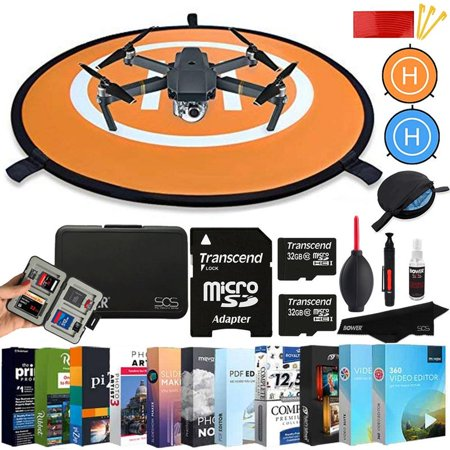 Vivitar Landing Pad for RC Drones Helicopter DJI Spark Mavic Pro Phantom 2 3 4 Pro Inspire 2 1 3DR Solo with Two 32GB MicroSD and Top Accessory (Phantom 4 Pro Vs Inspire 1 Pro)