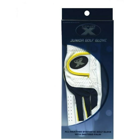 Merchants of Golf Tour X Golf Glove - Boys (White/Black/Yellow)