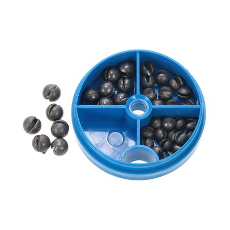 0.6/1/1.5/1.8g Removable Round Lead Split Shot Sinker Kit Set Open Pure Lead Weights Fishing Tackle Beans Sinker with (Load Set)