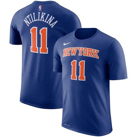 wholesale dealer 485d9 078c2 Frank Ntilikina New York Knicks Nike Name & Number ...