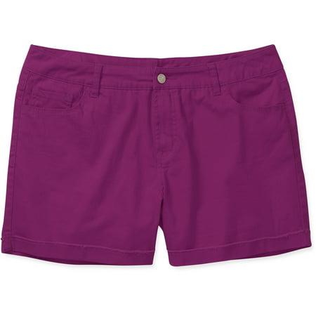 4be948b319 Faded Glory - Faded Glory Women's Plus-Size Frayed Denim Shorts -  Walmart.com