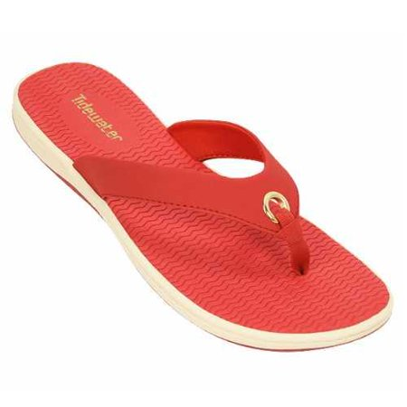 Tidewater Womens Portland Thong Sandal  Red Size 7