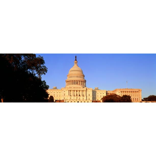 United States Capitol Building Washington Dc Usa Stretched Canvas Panoramic Images 6 X 18 Walmart Com Walmart Com