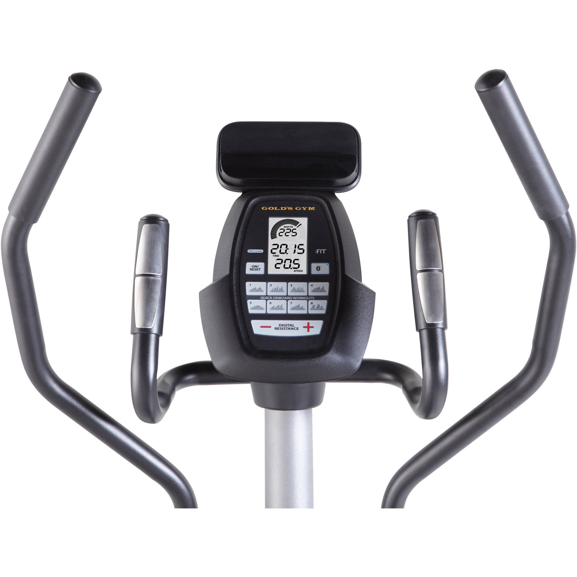 Gold's Gym Stride Trainer 350i Elliptical with Tablet Holder - Walmart.com