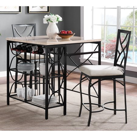 counter height chairs for kitchen island bernards kitchen island with 2 counter height stools walmart com 4386