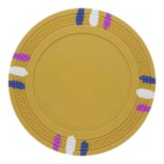 """""""Roll of 25 Yellow Blank Claysmith 12 Stripe Poker Chip 1"""" by BryBelly"""