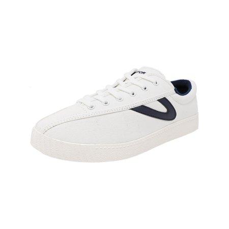 Tretorn Women's Nylite Plus Canvas Vintage White / Night Fashion Sneaker - 9M (Tretorn Womens Classic Shoes)